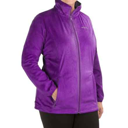 Columbia Sportswear Blustery Summit Fleece Jacket (For Plus Size Women) in Iris Glow - Closeouts