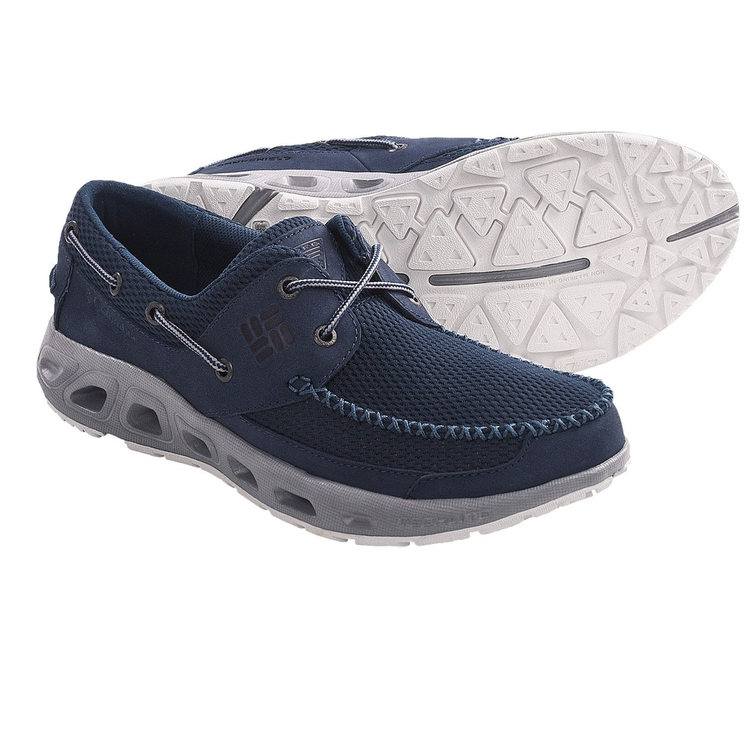 Columbia sportswear boatdrainer pfg boat shoes for men for Columbia fishing shoes