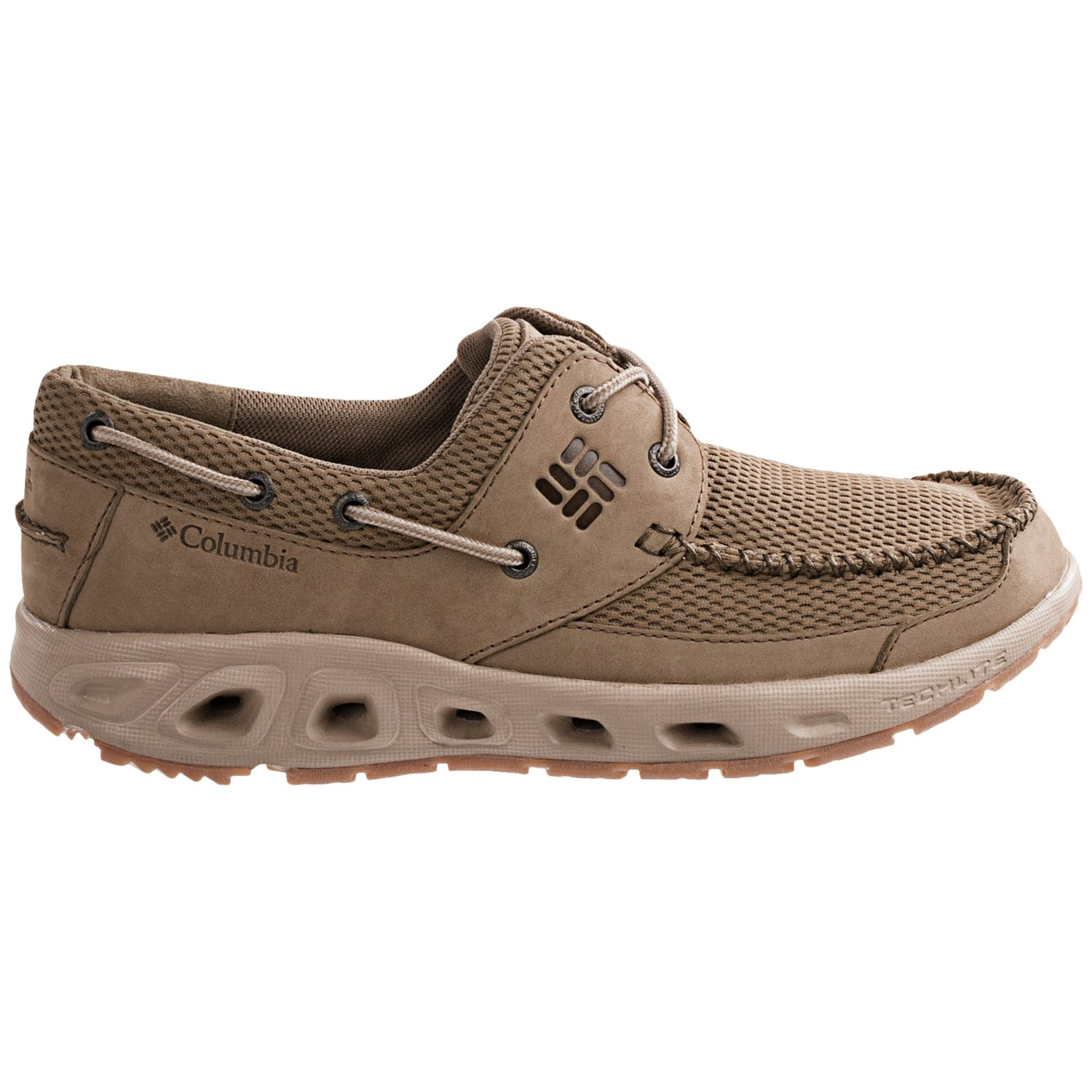 Columbia sportswear boatdrainer pfg boat shoes for men 6939r for Columbia fishing shoes