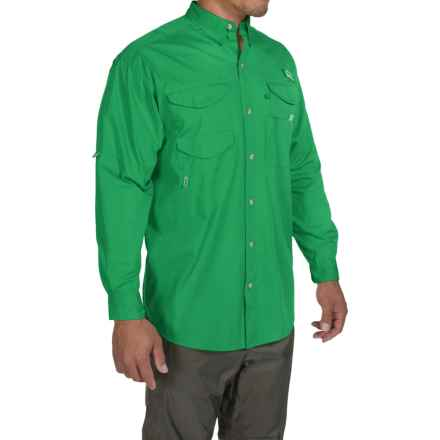 Columbia Sportswear Bonehead Fishing Shirt - Long Sleeve (For Men) in Dark Lime - Closeouts