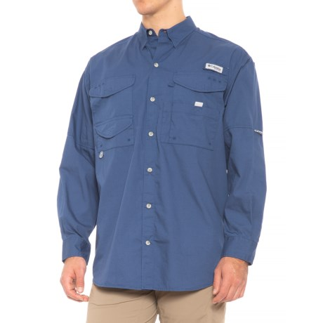 Columbia Sportswear Bonehead Fishing Shirt - Long Sleeve (For Men) in Night Tide