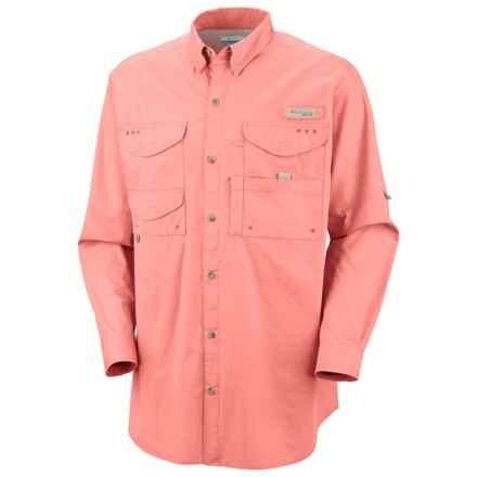 Columbia Sportswear Bonehead Fishing Shirt - Long Sleeve (For Men) in Sorbet - Closeouts