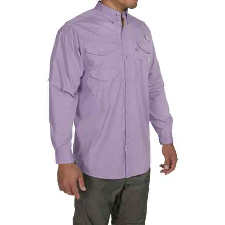 Columbia Sportswear Bonehead Fishing Shirt - Long Sleeve (For Men) in Whitened Violet - Closeouts