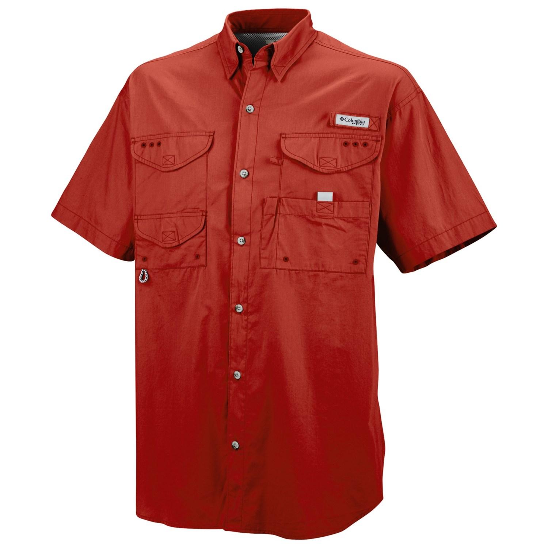 Columbia sportswear bonehead fishing shirt short sleeve for Men s columbia fishing shirts
