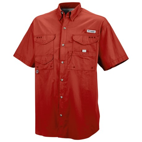 Columbia Sportswear Bonehead Fishing Shirt - Short Sleeve (For Men) in Sail Red