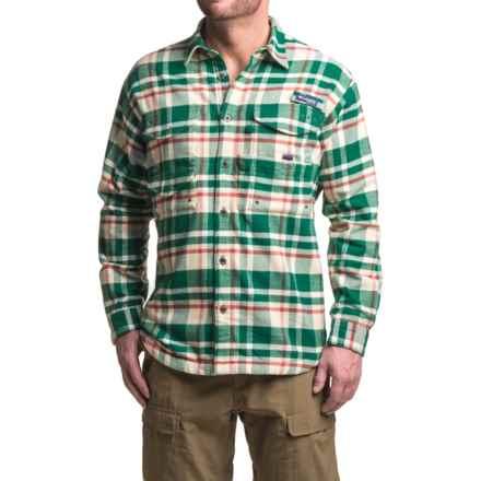 Columbia Sportswear Bonehead Flannel Shirt Jacket - Long Sleeve (For Men) in Wildwood Green Plaid - Closeouts