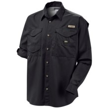 Columbia Sportswear Bonehead Shirt - Long Sleeve (For Big and Tall Men) in Black - Closeouts