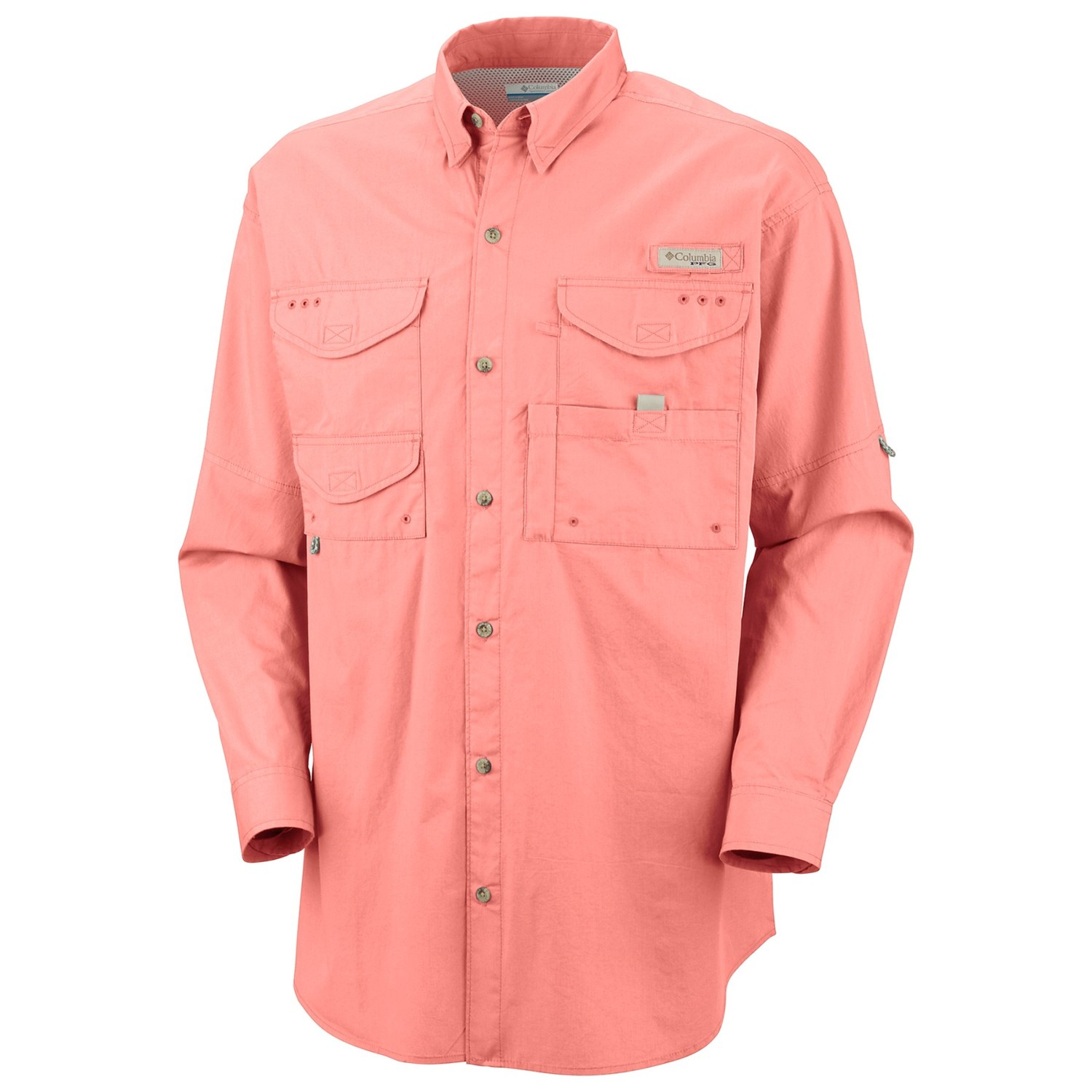 Columbia sportswear bonehead shirt long sleeve for big for Big and tall long sleeve shirts
