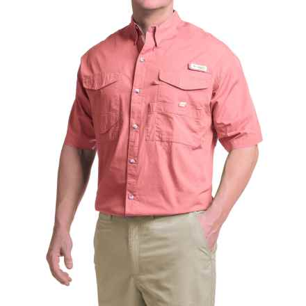 Columbia Sportswear Bonehead Shirt - Short Sleeve (For Big and Tall Men) in Sorbet - Closeouts