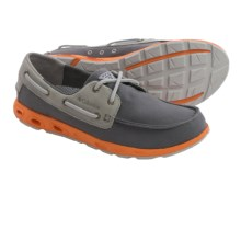 Columbia Sportswear Bonehead Vent PFG Boat Shoes (For Men) in Charcoal/Orange Blast - Closeouts
