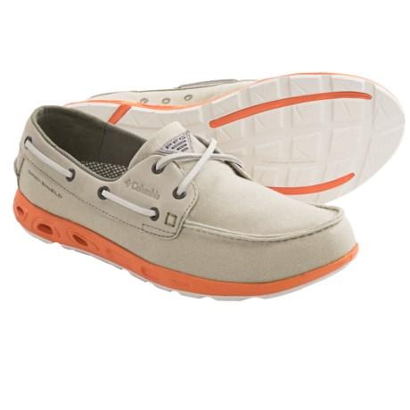 Columbia Sportswear Bonehead Vent PFG Boat Shoes (For Men) in Light Cloud/Orange Blast