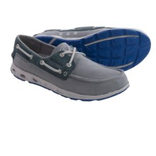 Columbia Sportswear Bonehead Vent PFG Boat Shoes (For Men) in Light Grey/Vivid Blue - Closeouts