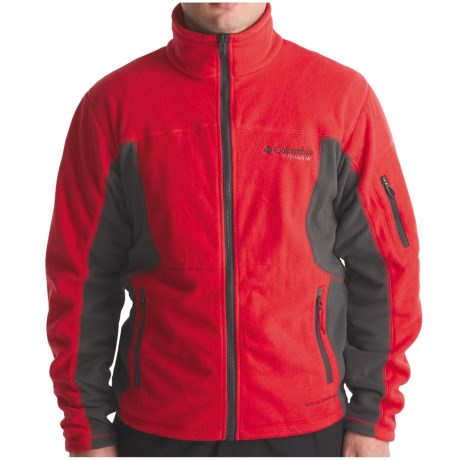 Columbia Sportswear Boulder Peak Fleece Jacket - Full Zip (For Men) in Intense Red/Dark Charcoal