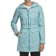 Columbia Sportswear Bowspirit Long Rain Jacket (For Women) in Geyset Plaid - Closeouts