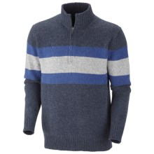 Columbia Sportswear Bridge Too Far Sweater - Zip Neck (For Men) in Collegiate Navy Heather - Closeouts