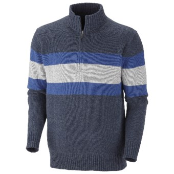 Columbia Sportswear Bridge Too Far Sweater - Zip Neck (For Men) in Collegiate Navy Heather
