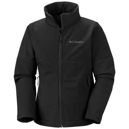 Columbia Sportswear Brookview Soft Shell Jacket (For Big Girls) in Black - Closeouts
