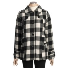 Columbia Sportswear Buffalo Plaid Coat - Wool Blend (For Women) in Black/White - Closeouts
