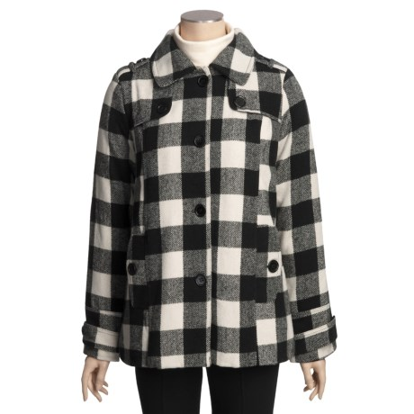 Columbia Sportswear Buffalo Plaid Coat - Wool Blend (For Women) in Black/White