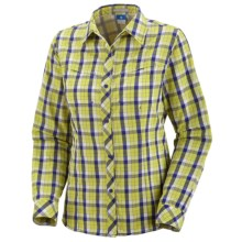 Columbia Sportswear Bug Shield Plaid Shirt - UPF 30, Long Sleeve (For Women) in Chartreuse - Closeouts