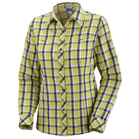 Columbia Sportswear Bug Shield Plaid Shirt - UPF 30, Long Sleeve (For Women) in Chartreuse