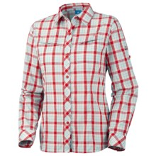 Columbia Sportswear Bug Shield Plaid Shirt - UPF 30, Long Sleeve (For Women) in Wind - Closeouts