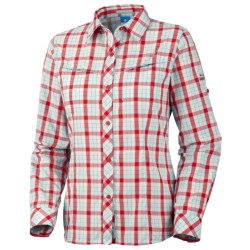 Columbia Sportswear Bug Shield Plaid Shirt - UPF 30, Long Sleeve (For Women) in Groovy Pink