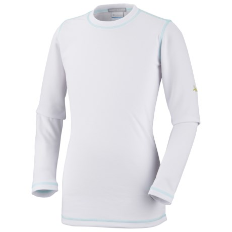 Columbia Sportswear Bug Shield Shirt - Long Sleeve (For Little Girls) in White/Candy Mint