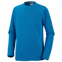 Columbia Sportswear Bug Shield Shirt - UPF 50, Long Sleeve (For Youth Boys) in Compass Blue - Closeouts