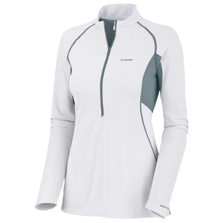 Columbia Sportswear Bug Shield Sporty Shirt - Zip Neck, Insect Blocker®, Long Sleeve (For Women) in White