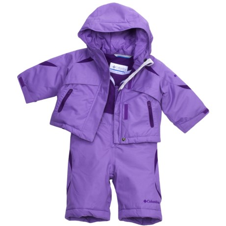 Columbia Sportswear Buga Jacket and Bib Set - Insulated (For Infant Girls) in Heliotrope