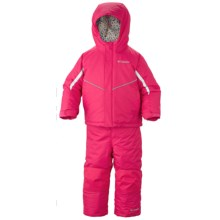 Columbia Sportswear Buga Omni-Tech® Snow Jacket and Bib Overalls Set - Waterproof, Insulated (For Infants) in Bright Rose - Closeouts
