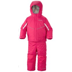 Columbia Sportswear Buga Omni-Tech® Snow Jacket and Bib Overalls Set - Waterproof, Insulated (For Infants) in Bright Rose