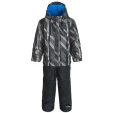 Columbia Sportswear Buga Omni-Tech® Two-Piece Snow Suit - Waterproof, Insulated (For Toddlers) in Black Print/Black - Closeouts