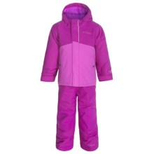 Columbia Sportswear Buga Omni-Tech® Two-Piece Snow Suit - Waterproof, Insulated (For Toddlers) in Bright Plum - Closeouts