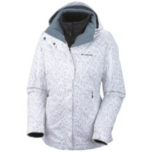 Columbia Sportswear Bugaboo Interchange Jacket - 3-in-1 (For Women) in White Chex Mix Print - Closeouts
