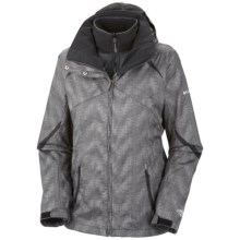 Columbia Sportswear Bugaboo Interchange Jacket - Insulated, 3-in-1 (For Plus Size Women) in Black Vertical Print - Closeouts