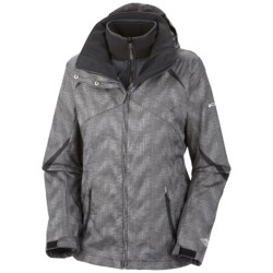 Columbia Sportswear Bugaboo Interchange Jacket - Insulated, 3-in-1 (For Plus Size Women) in Black Vertical Print