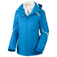 Columbia Sportswear Bugaboo Interchange Jacket - Insulated, 3-in-1 (For Plus Size Women) in Compass Blue/Sea Salt - Closeouts