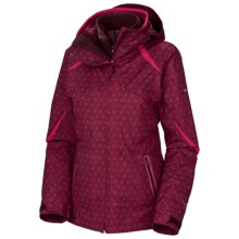 Columbia Sportswear Bugaboo Interchange Jacket - Insulated, 3-in-1 (For Plus Size Women) in Elderberry Print/Bright Rose - Closeouts