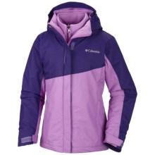 Columbia Sportswear Bugaboo Interchange Omni-Heat® Jacket - Waterproof, 3-in-1 (For Girls) in Hyper Purple/Blossom Pink - Closeouts