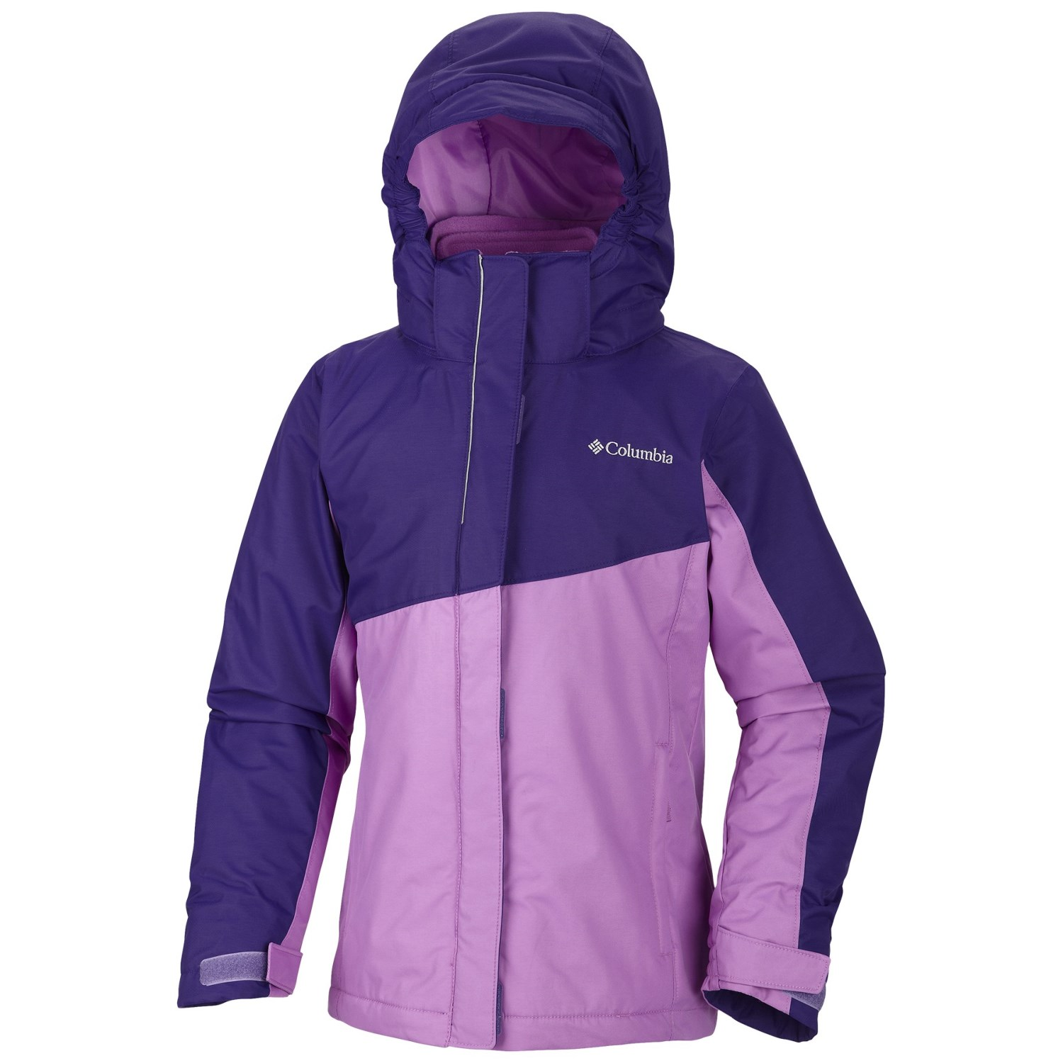 The Girls' 3-in-1 Systems Jacket from C9 Champion has you covered in all types of weather. Outer shell jacket protects with water and wind resistant fabric, dual front closure with hook and loop and z.