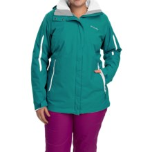 Columbia Sportswear Bugaboo Interchange Omni-Heat® Jacket - Waterproof, 3-in-1 (For Plus Size Women) in Emerald/White - Closeouts