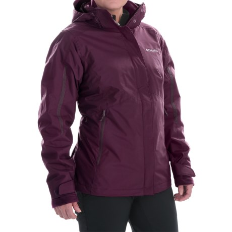 Columbia Sportswear Bugaboo Interchange Omni-Heat® Jacket - Waterproof, 3-in-1 (For Women) in Purple Dahlia/Dusty Purple