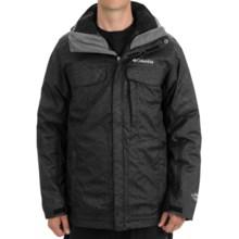 Columbia Sportswear Bugaboo Interchange Omni-Tech® Jacket - 3-in-1, Insulated (For Men) in Black Herringbone Print - Closeouts