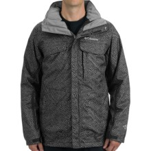 Columbia Sportswear Bugaboo Interchange Omni-Tech® Jacket - 3-in-1, Insulated (For Men) in Grey Herringbone Print - Closeouts