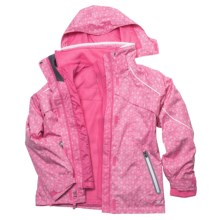 Columbia Sportswear Bugaboo Jacket - 3-in-1 (For Girls) in Pink Taffy Bugaboo Print - Closeouts