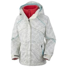 Columbia Sportswear Bugaboo Jacket - 3-in-1 (For Girls) in Sea Salt Bubble Print - Closeouts