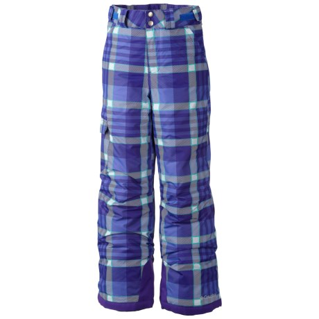 Columbia Sportswear Bugaboo Omni-Heat® Omni-Tech® Snow Pants - Waterproof, Insulated (For Girls) in Purple Lotus Plaid