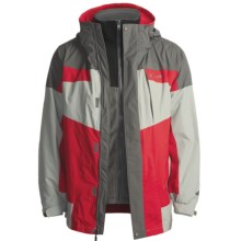 Columbia Sportswear Bugaboo Omni-Tech® Parka - Insulated, 3-in-1 (For Men) in Intense Red/Charcoal - Closeouts